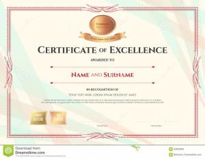 certificat-de-calibre-d-excellence-sur-le-fond-abstrait-de-ruban-93840495